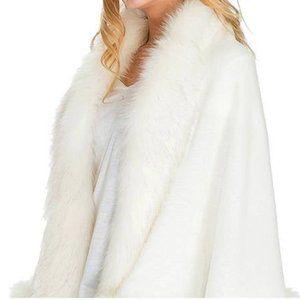 Accessories - Ivory Faux Fur Winter Bridal Wrap